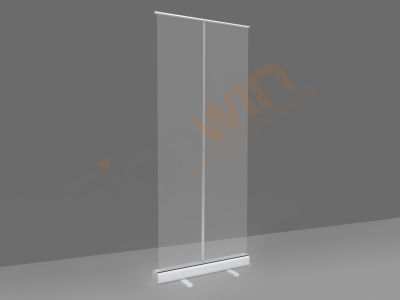 Sneeze Guard Shield Retractable/Roll up Freestanding + Economic Base