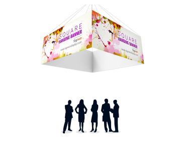 Square Quad Hanging Banner Full Color Printing For Fairs