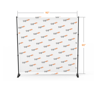 Adjustable Step and Repeat Teleconference Video Backdrop Telescopic Tension Fabric Display