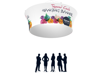 Tapered Circular Hanging Banner Graphic Printing for Events