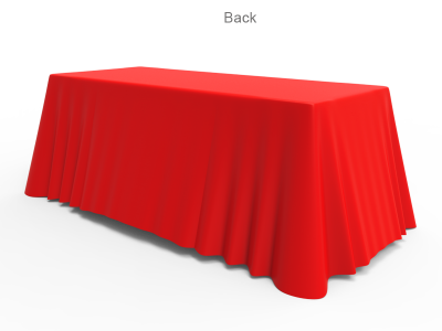 6ft Unprinted Red Versatile Loose Table Throw with Round Corners