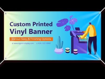 Custom Vinyl Banner 13 oz Printing Indoor/Outdoor