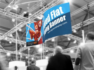 Waved Flat Hanging Banner Logo Printing for Fairs