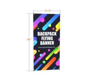 X-Shaped Backpack Walking Flag Banner Full Color Printing